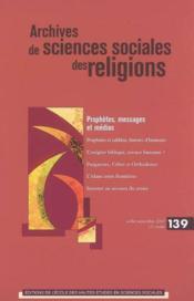Archives De Sciences Sociales Des Religions 139 - Couverture - Format classique