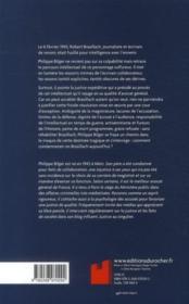 20 minutes pour la mort ; Robert Brasillach : le procès expédié - 4ème de couverture - Format classique