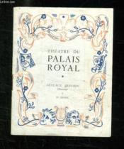 PROGRAMME. THEATRE DU PALAIS ROYAL. 33em ANNEE. - Couverture - Format classique
