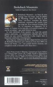 Brokeback Mountain - 4ème de couverture - Format classique