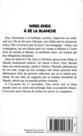 Week Ends A Re La Blanche - Couverture - Format classique