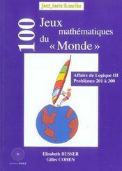 100 jeux du monde (201-300) - Intérieur - Format classique