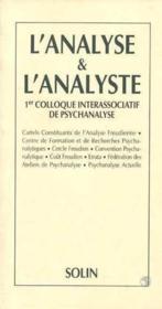L'analyse et l'analyste - Couverture - Format classique
