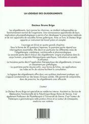 La Logique Des Oligoelements - 4ème de couverture - Format classique