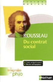 Rousseau ; du contrat social - Couverture - Format classique