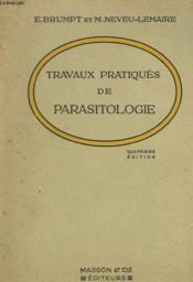 Travaux Pratiques De Parasitologie - Couverture - Format classique