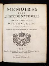 Mémoires pour l'histoire naturelle de la province de Languedoc - Couverture - Format classique