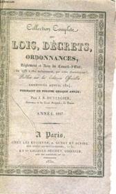 Collection Complete Des Lois, Decrets, Ordonnances, Reglemens Et Avis Du Conseil-D'Etat Tome Xxvii - Anne 1827 - Couverture - Format classique