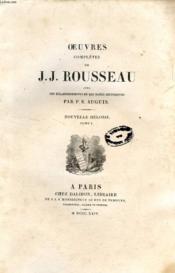Oeuvres Completes De J. J. Rousseau, Tomes Viii-Ix-X, Nouvelle Heloise (3 Tomes) - Couverture - Format classique