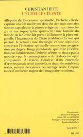 L'echelle celeste dans l'art du moyen age - une image de la quete du ciel - 4ème de couverture - Format classique