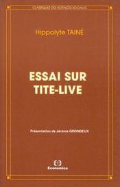 Essai Sur Tite-Live - Intérieur - Format classique