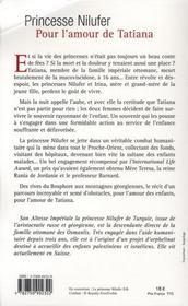 Pour l'amour de tatiana - 4ème de couverture - Format classique