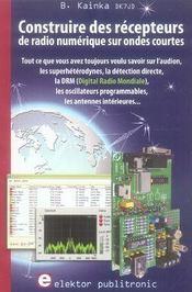 Construire des récepteurs de radio numérique sur ondes courtes - Intérieur - Format classique