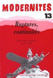 Ruptures, continuites - Intérieur - Format classique