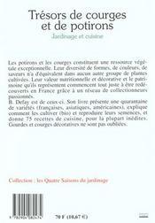 Tresors de courges et de potirons - 4ème de couverture - Format classique