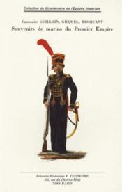 Souvenirs de marins du premier empire - Couverture - Format classique