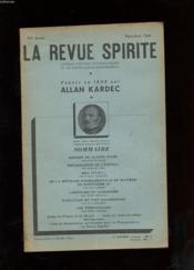 LA REVUE SPIRITE. 92e ANNEE. MARS-AVRIL 1949. MISSIONS DE JEANNE D'ARC. EXPLORATION DE L'ASTRAL. MEA CULPA! DE LA METHODE EXPERIMENTALE EN MATIERE DE SPIRITISME (II) L'HISTOIRE DU CADOAISME - Couverture - Format classique
