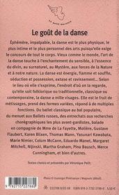 Le goût de la danse - 4ème de couverture - Format classique
