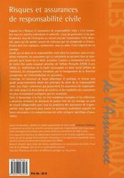 Risques et assurances de responsabilité civile - 4ème de couverture - Format classique