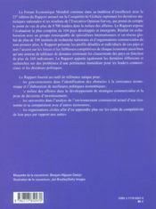 Rapport Sur La Competitivite Globale, 2004-2005 - 4ème de couverture - Format classique