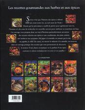 Recettes gourmandes aux herbes et aux epices - 4ème de couverture - Format classique