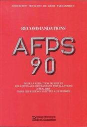 Recommandations afps 90 v2 - Couverture - Format classique