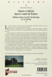 Manoirs Et Chateaux Dans Le Comte De Rennes - 4ème de couverture - Format classique