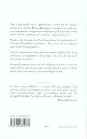 Sur la psychanalyse et sur sa fin notes de seminaire, tours, 1996-1997 - 4ème de couverture - Format classique