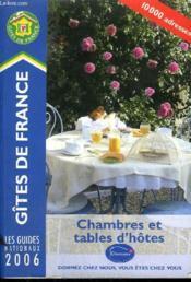 Chambres Et Tables D'Hotes (edition 2006) - Couverture - Format classique