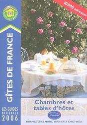 Chambres Et Tables D'Hotes (edition 2006) - Intérieur - Format classique