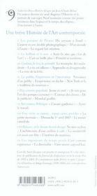 UNE BREVE HISTOIRE ; une breve histoire de l'art contemporain - 4ème de couverture - Format classique