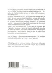 La gloire et l'échafaud ; vie et destin de l'architecte de Marie-Antoinette - 4ème de couverture - Format classique