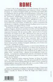 Histoire de rome - 4ème de couverture - Format classique