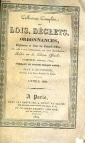 COLLECTION COMPLETE DES LOIS, DECRETS, ORDONNANCES, REGLEMENS ET AVIS DU CONSEIL-D'ETAT TOME xxviii - annee 1828 - Couverture - Format classique