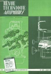 Revue Technique Automobile - N°232 - Couverture - Format classique