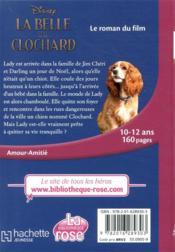 La Belle et le Clochard ; le roman du film - 4ème de couverture - Format classique