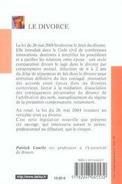 Le divorce - 4e ed. (4e édition) - 4ème de couverture - Format classique