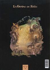 La graine de folie t.2 ; le grand ornement - 4ème de couverture - Format classique