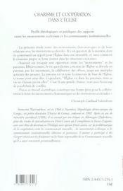 Charisme et cooperation dans l'eglise - 4ème de couverture - Format classique