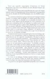 But De La Vie (Le) - 4ème de couverture - Format classique