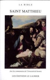 La bible : saint matthieu - Couverture - Format classique