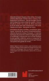 Le roman des morts secrètes de l'histoire - 4ème de couverture - Format classique