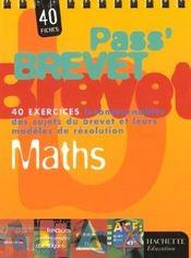 Pass'brevet ; mathematiques - Intérieur - Format classique