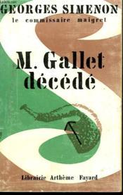 M. Gallet Decede. - Couverture - Format classique