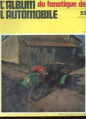 ALBUM DU FANATIQUE DE L'AUTOMOBILE N°33 - rENAULT 2 CYLINDRES TYPE AX - Couverture - Format classique