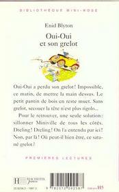 Oui-Oui Et Osn Grelot - 4ème de couverture - Format classique