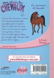 Mes amis les chevaux T.10 ; le concours de beauté - 4ème de couverture - Format classique