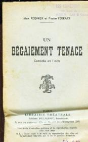 Un Begaiement Tenace - Comedie En 1 Acte. - Couverture - Format classique