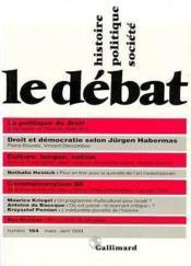 Revue Le Débat N.104 - Couverture - Format classique