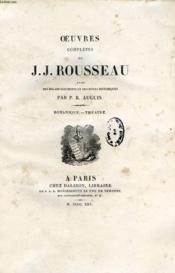Oeuvres Completes De J. J. Rousseau, Tome Xi, Botanique, Theatre - Couverture - Format classique